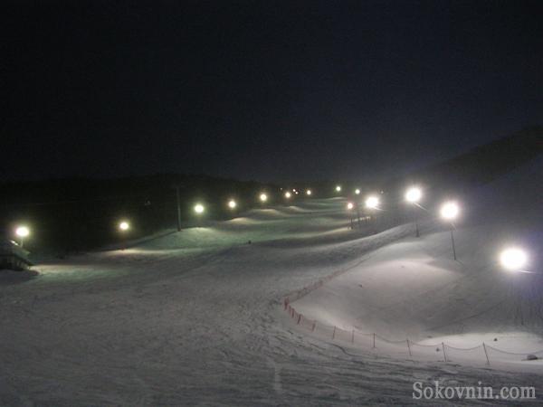 Ночные катания на Горном Воздухе