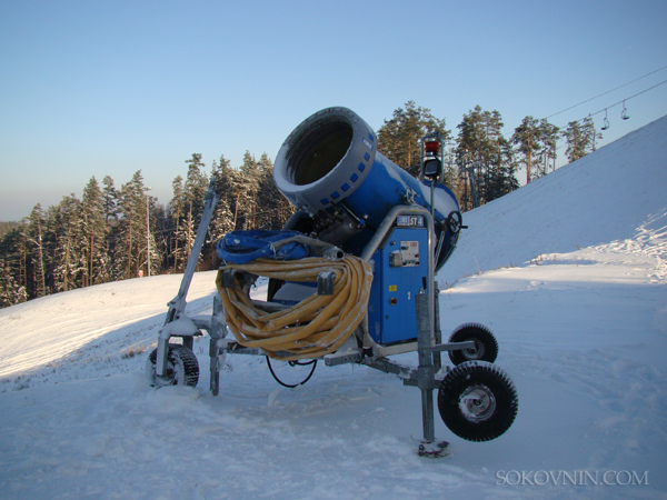 Снежная пушка в Силичах
