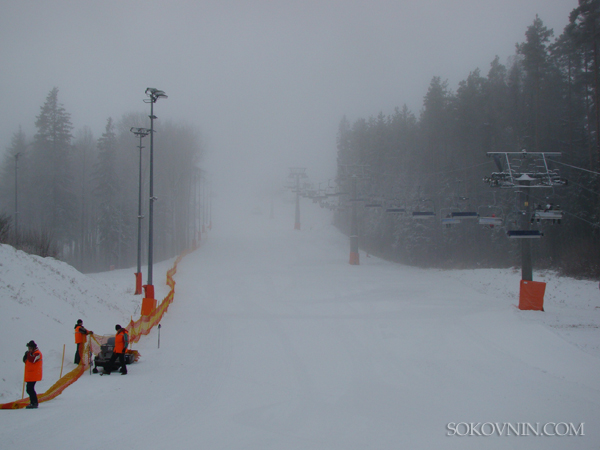Снегопад в Силичах
