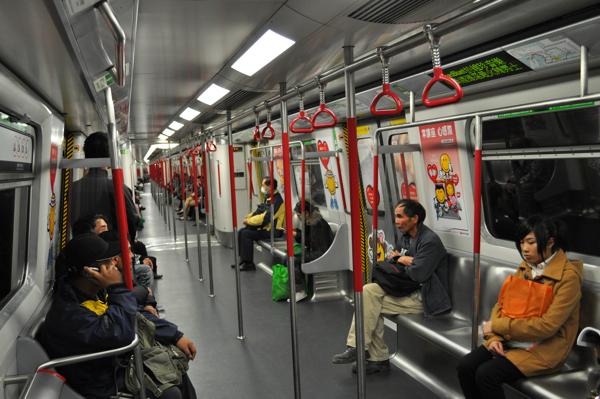 В метро Гонконга