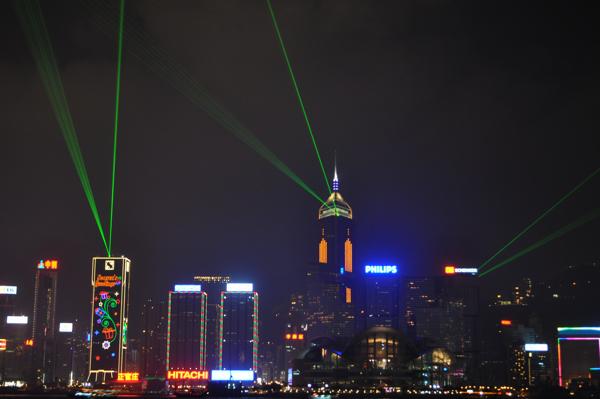 Лазерное шоу симфония огней в гонконге