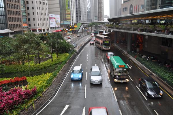Дождь в Гонконге