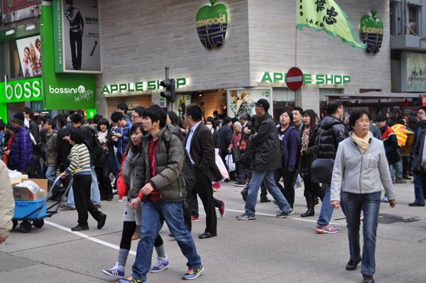 Пешеходные переходы в Гонконге