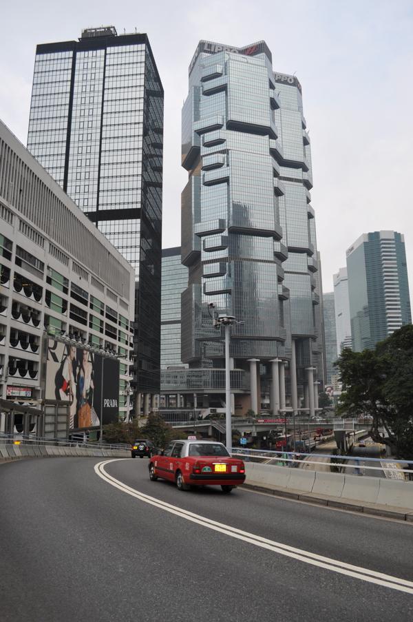 Такси в городе Гонконге
