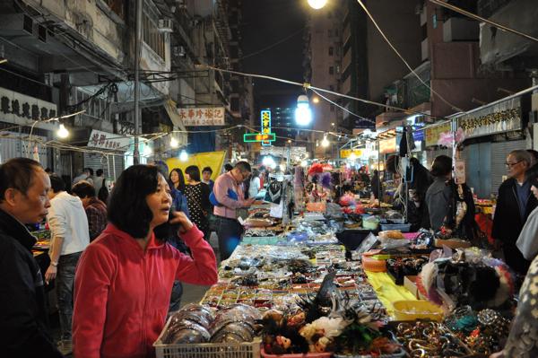 Рынок на темпл стрит в Гонконге