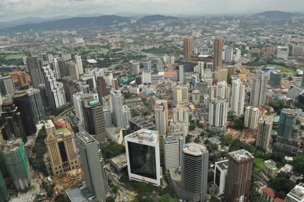 Город Куала Лумпур со смотровой площадки