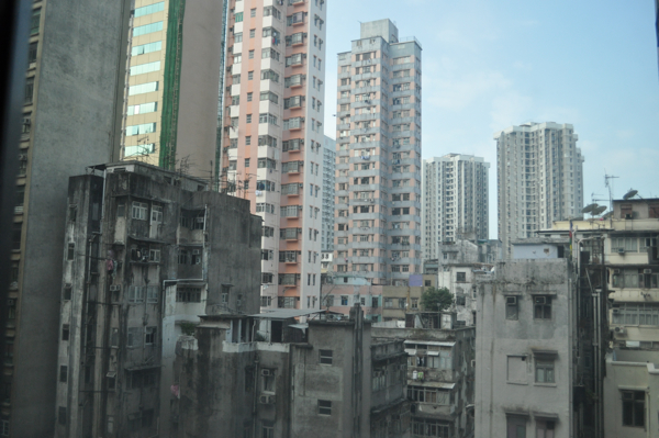 Вид из окна отеля Casa в Гонконге