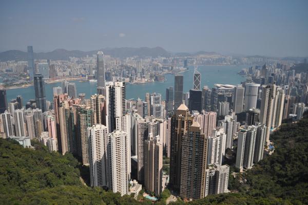 Вид на Гонконг с Victoria Peak