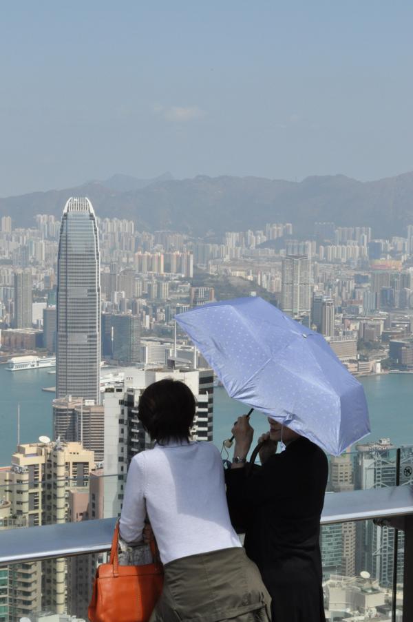 В Гонконге на Пике Виктории