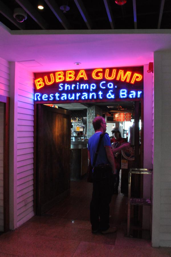Ресторан Бубба Гамп на Пике Виктории в Гонконге