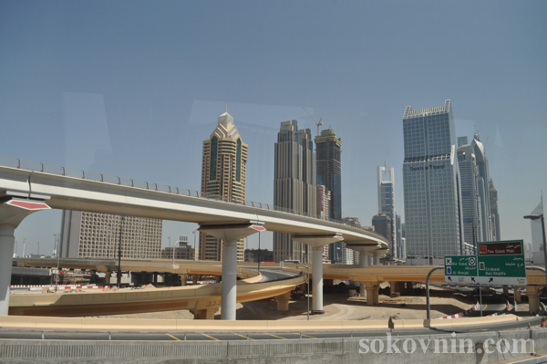 Монорельсовая дорога в Дубае