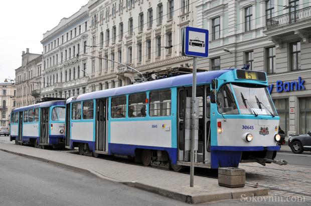 Трамваи в Латвии