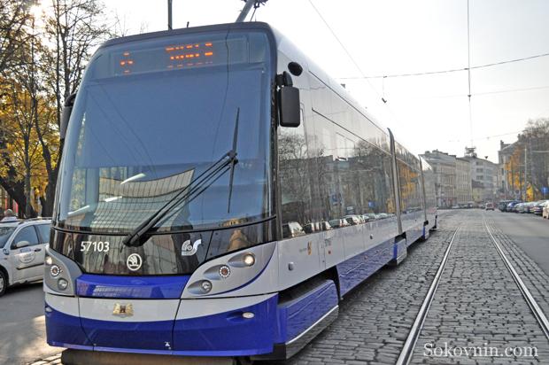 Трамвай в в Латвии