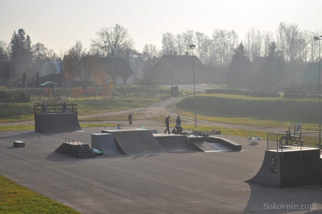 Скейтпарк в Латвии