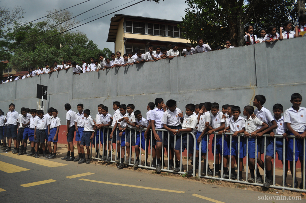 Шриланкийские школьники