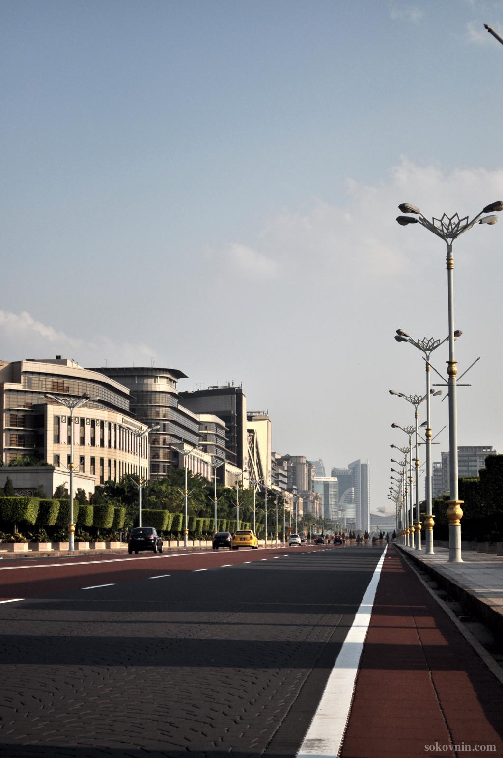 Пустые дороги в Путраджае