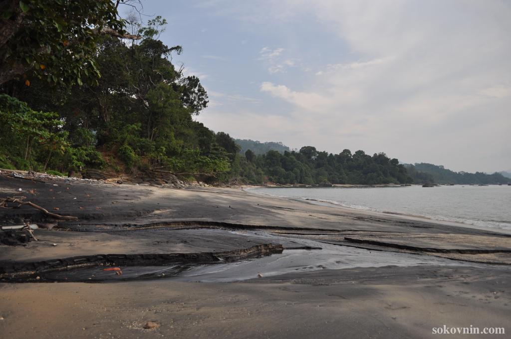 Пляжи с чёрным песком