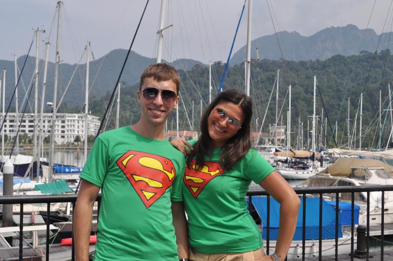 Мы в футболках супермена
