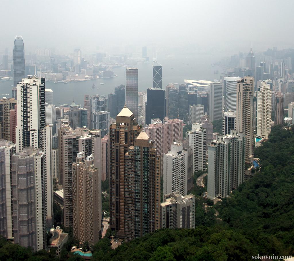 Смотрим на Гонконг с Пика Виктории