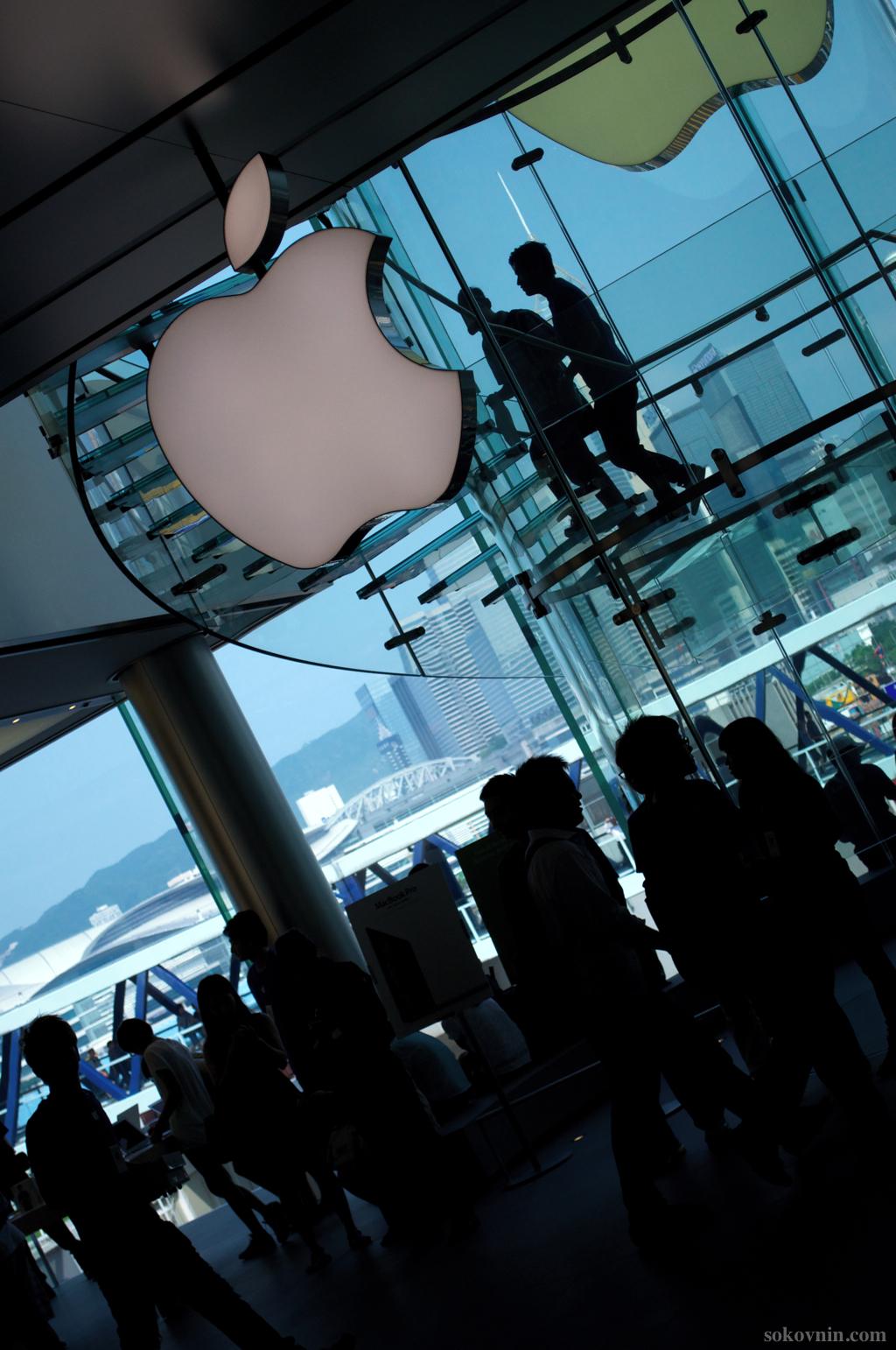 Большой магазин Apple в Гонконге