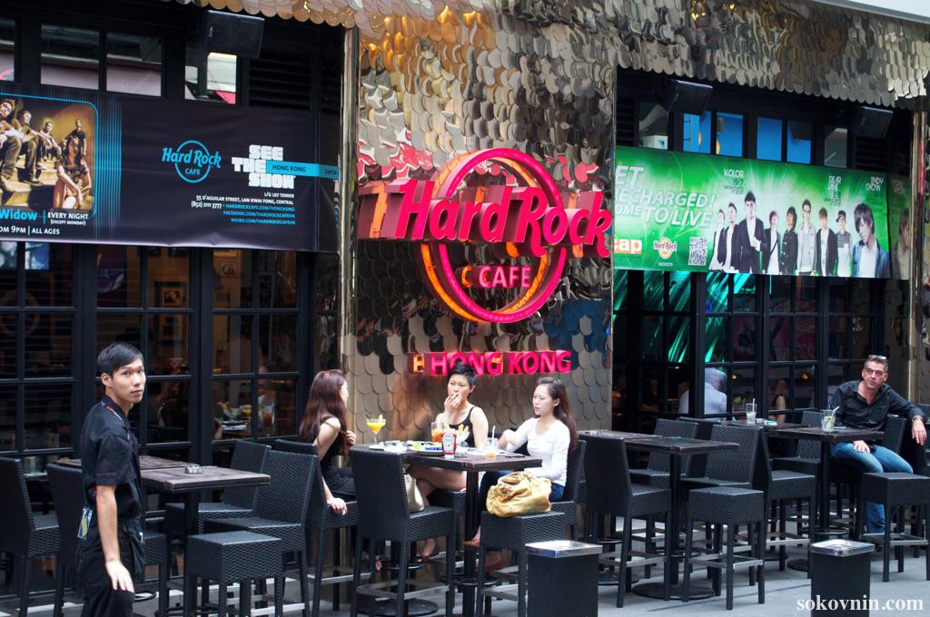 Вывеска Hard Rock Cafe Гонконг