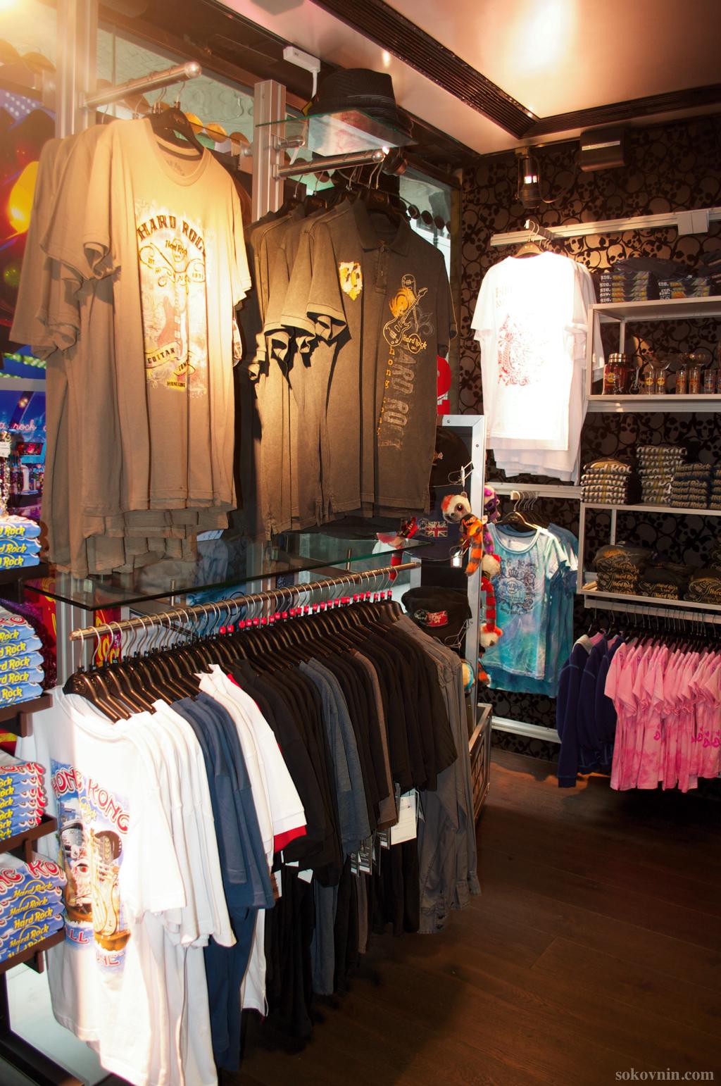 Рок шоп в Хард Рок кафе