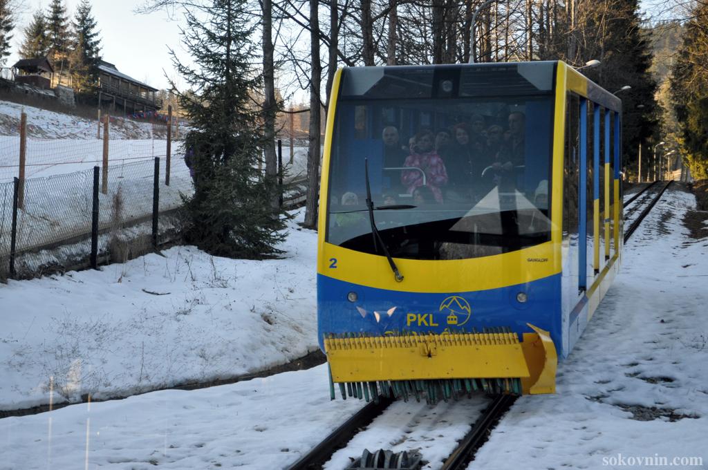Горный трамвай на Губалувку