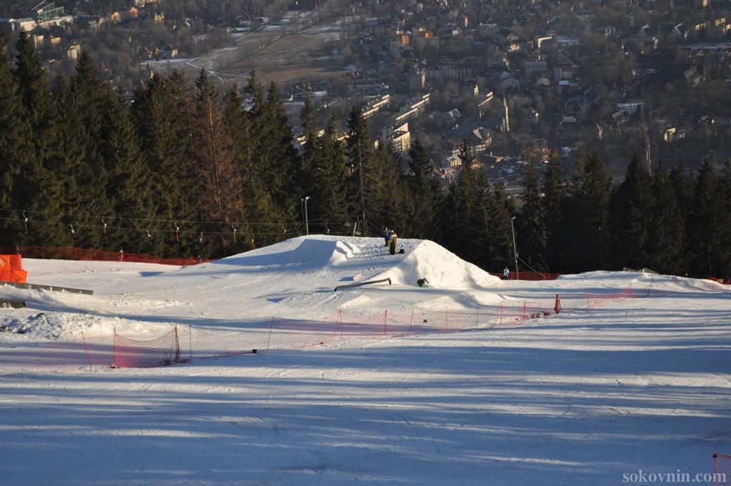Трамплин для лыжников и сноубордеров