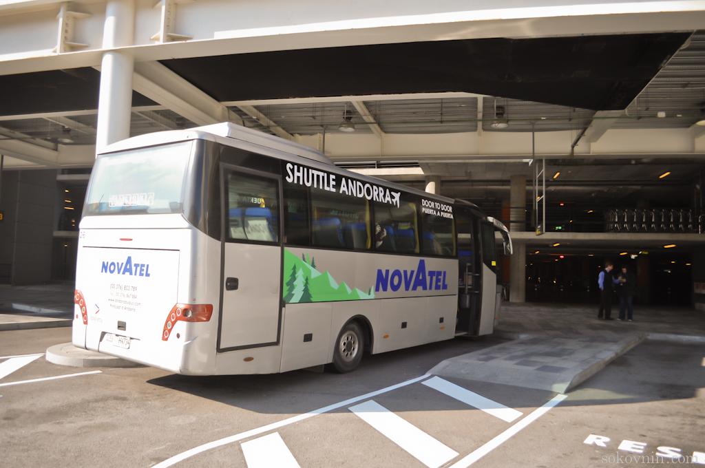 Автобус в Андорру из аэропорта Барселоны
