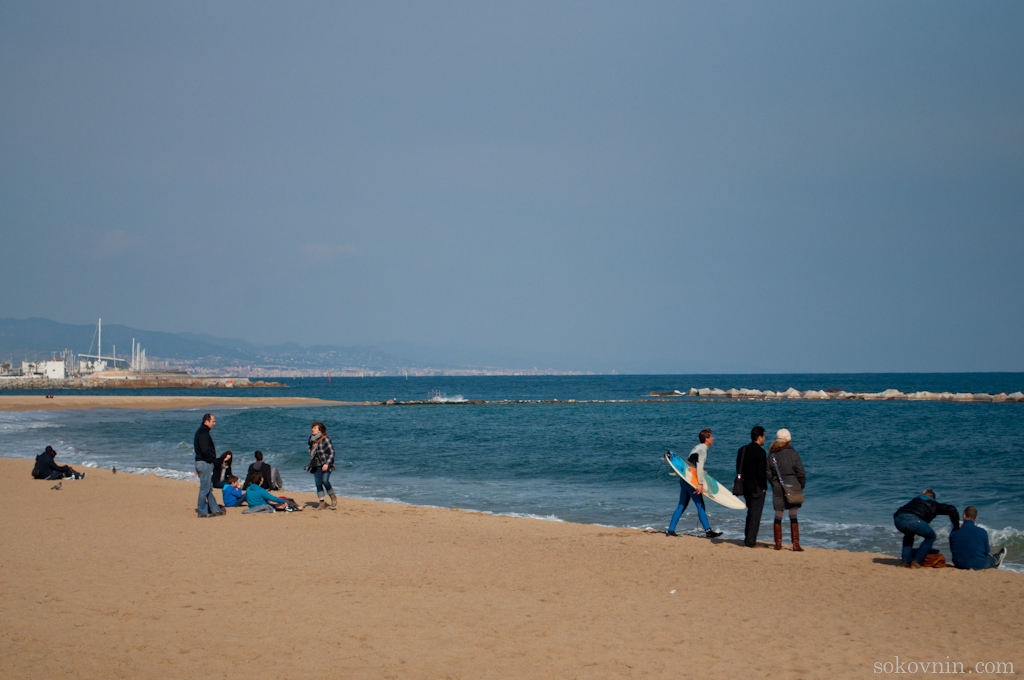 Сёрфинг в Барселоне