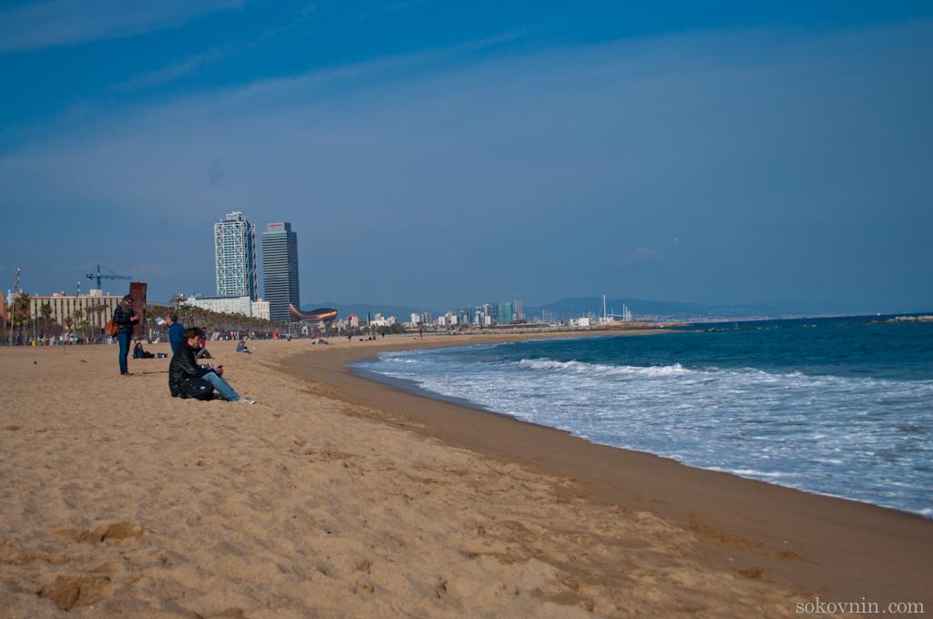 Пляж в Берселоне - Барселонета
