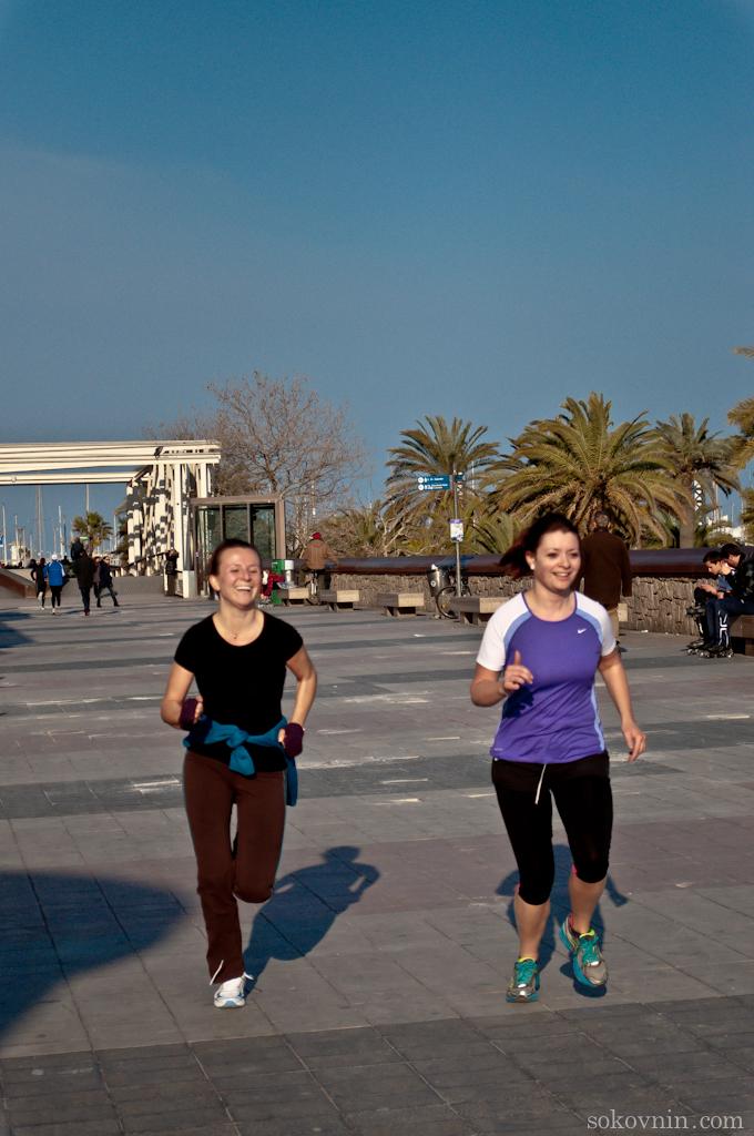 Пробежка по набережной Барселоны