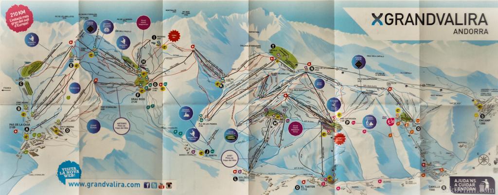 Горнолыжная карта Андорры