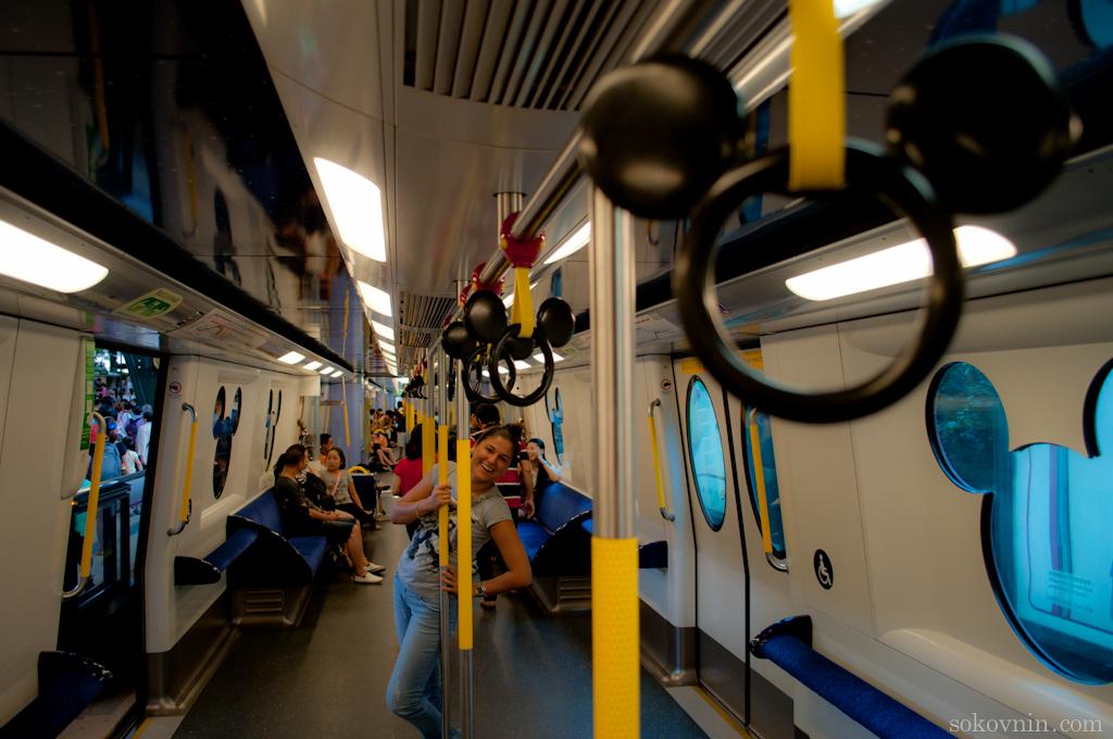 Вагон метро в Гонконгский диснейленд