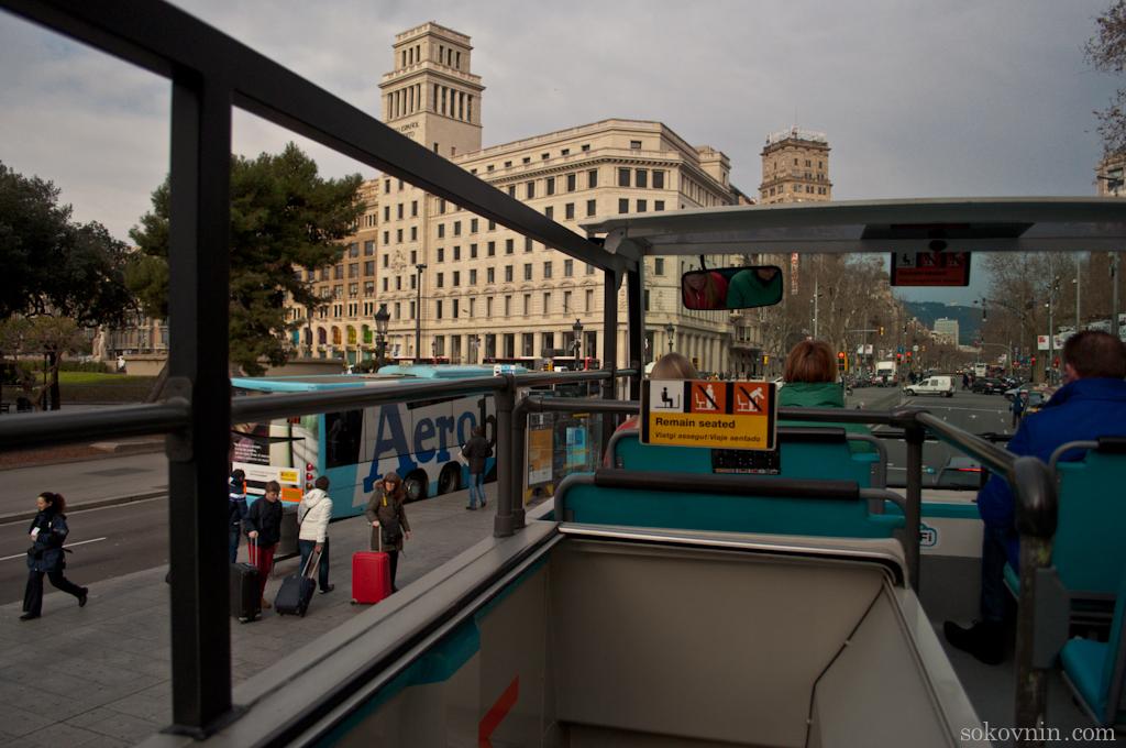 Экскурсия на автобусе в Барселоне
