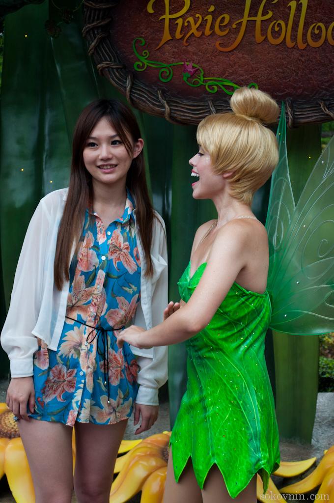 Красивые китаянки в Диснейленде