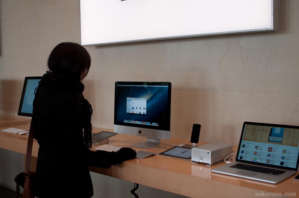 MacBook в Барселоне в магазине Apple