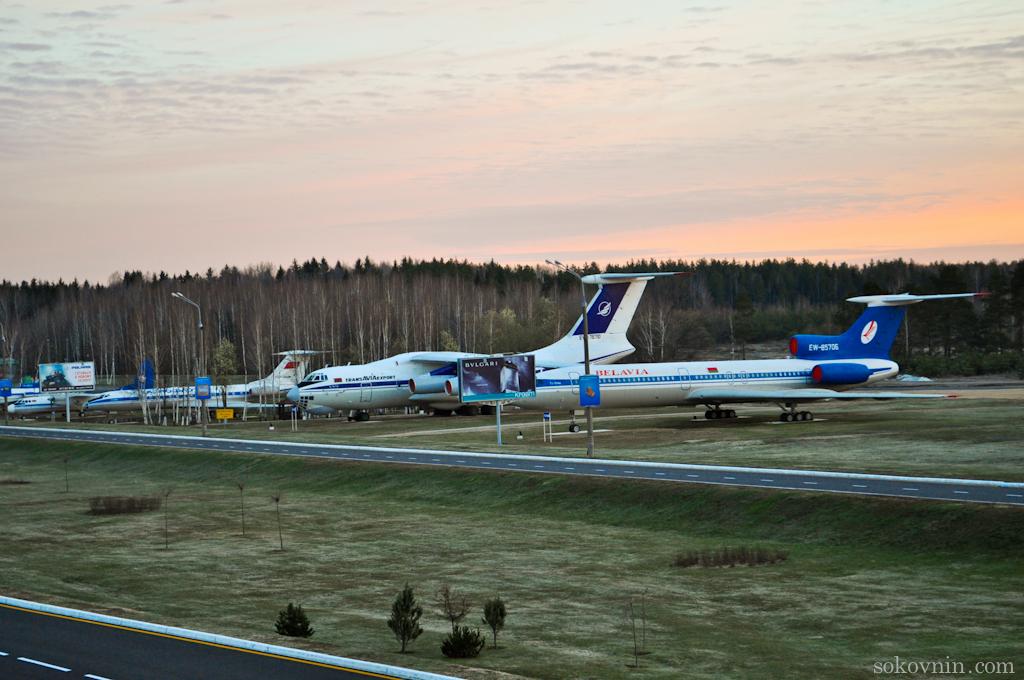 Музей самолётов в Минском аэропорту