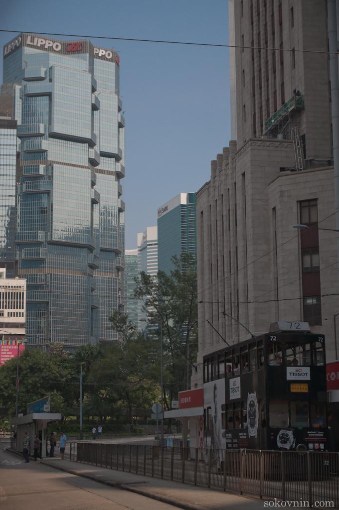 Улицы в Гонконге, небоскрёбы