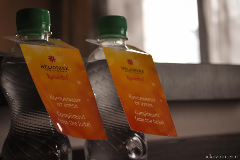 Бесплатная вода для гостей отеля