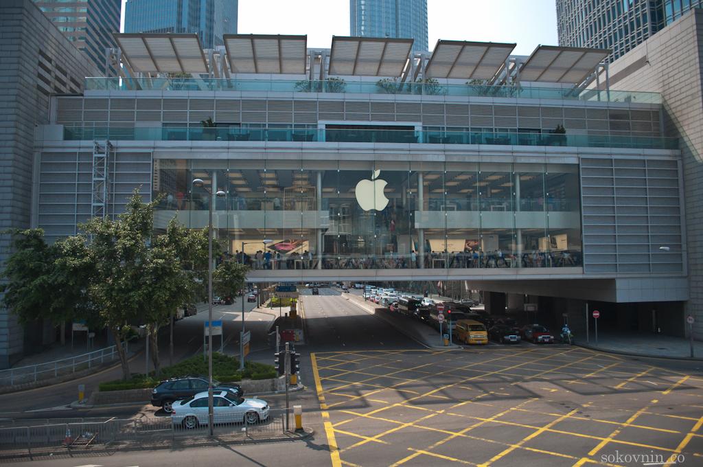 Магазин Apple Store в Гонконге