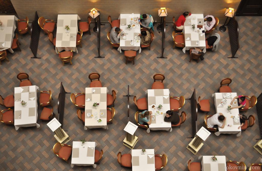 Расположение столиков в ресторане