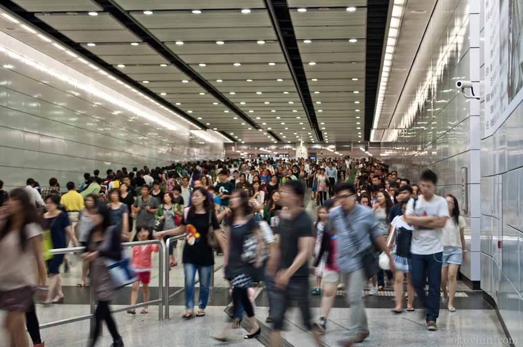 Час пик в гонконгском метро