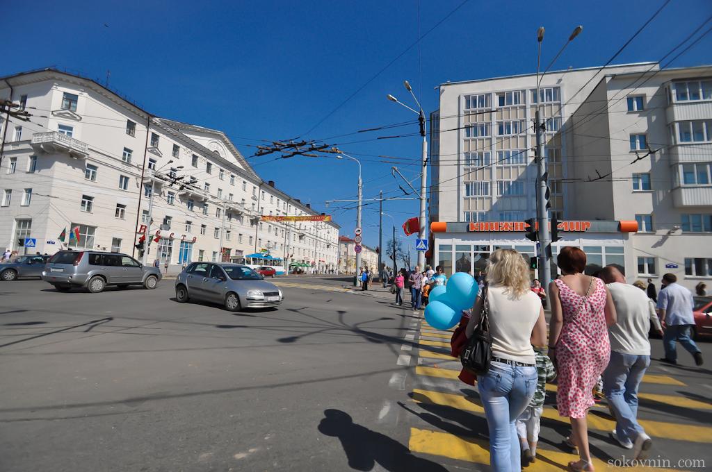 Широкие улицы в Витебске