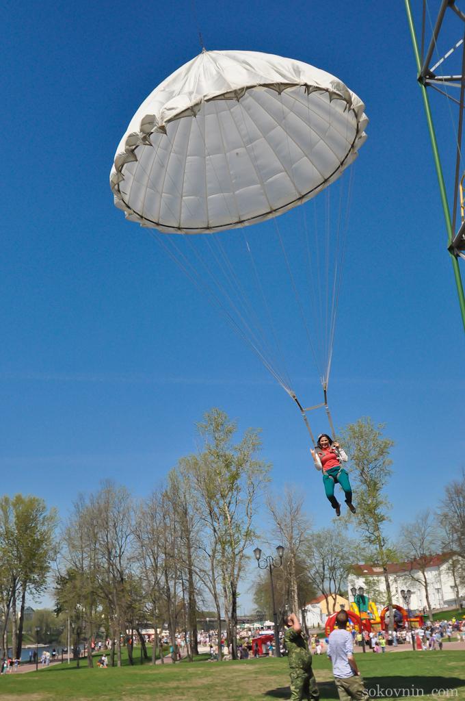 Аттракцион прыжок с парашютом в Витебске