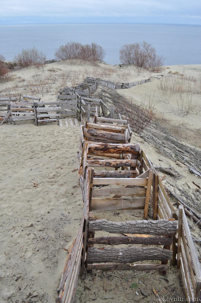 Ограждения на дюнах