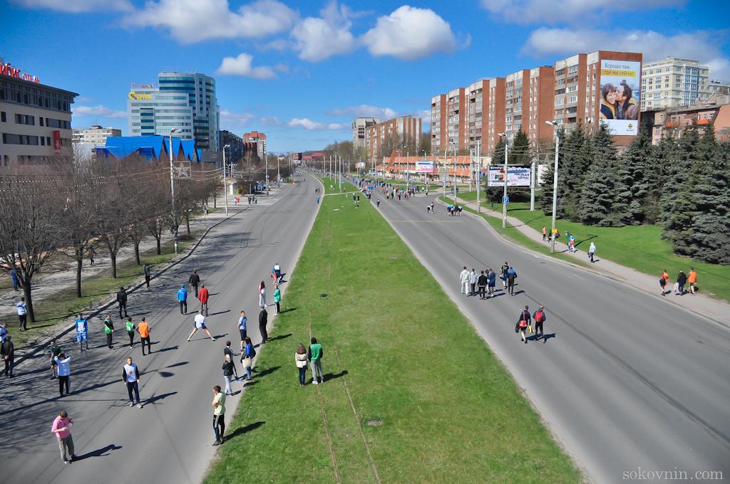 Соревнования по бегу в Калининграде