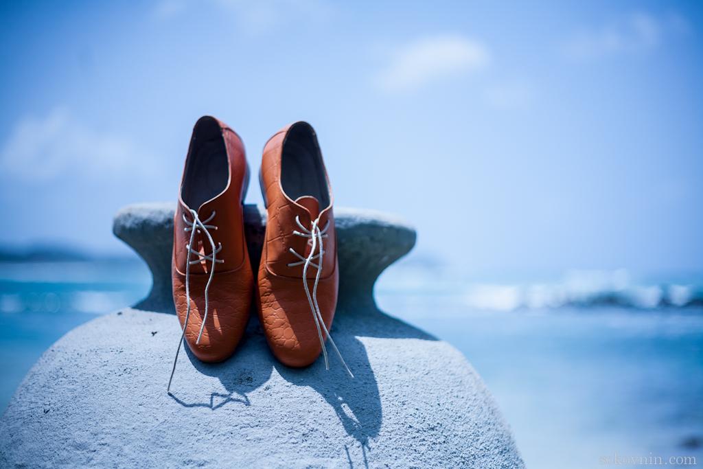 Мои оранжевые ботинки сшиты на заказ