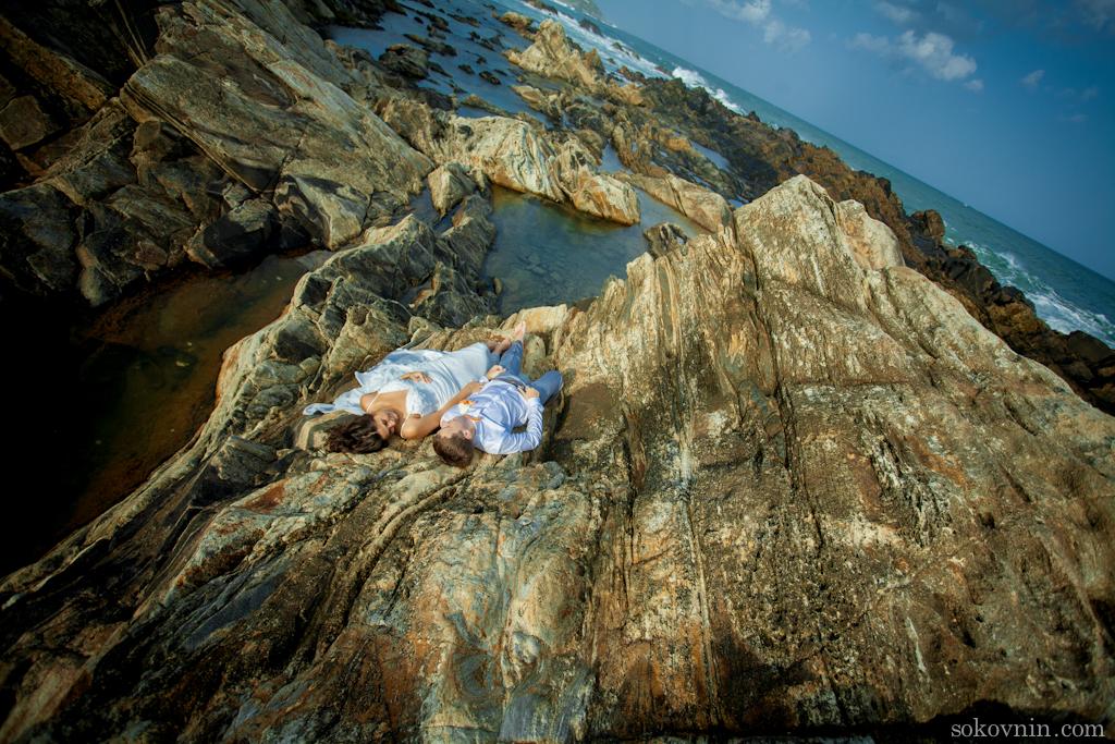 Свадебная фотосессия на скалах