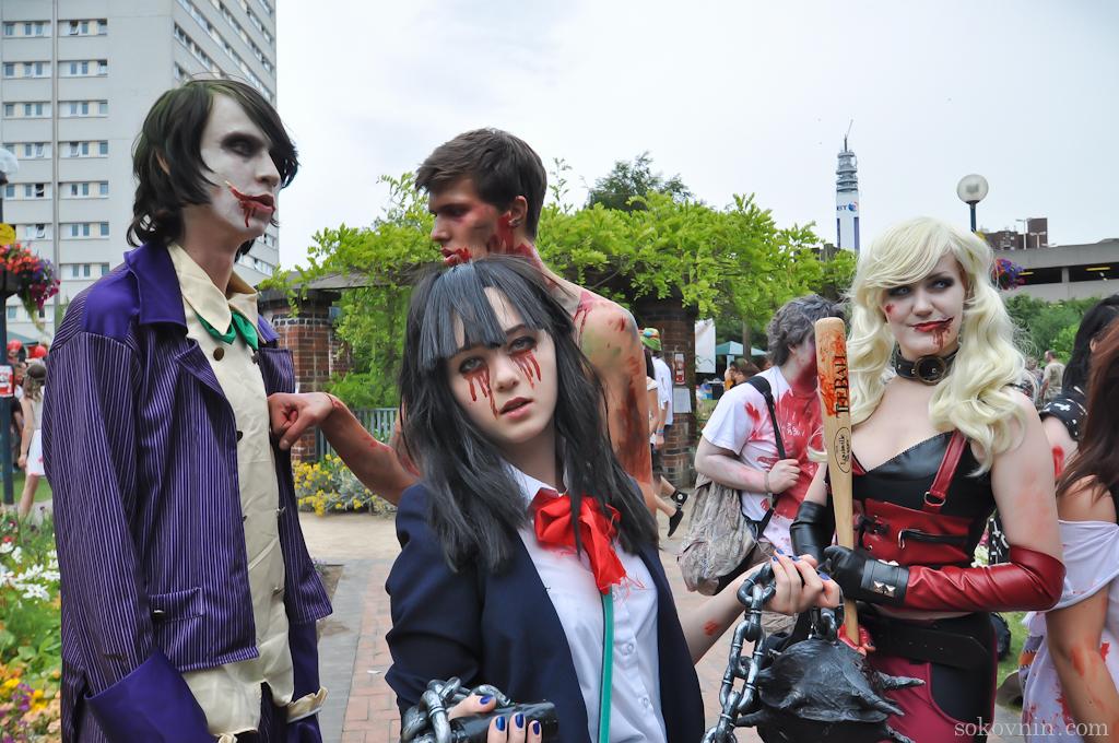 Парад зомби в Бирмингеме